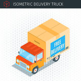 Delivery truck with a box Stock Photos