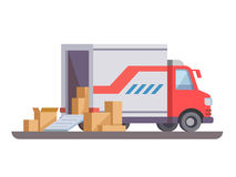Delivery truck with box Stock Image
