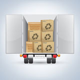 Delivery truck with boxes Stock Image
