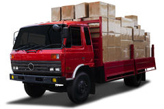 Delivery truck with boxes Stock Images