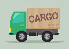 Delivery truck cargo Stock Photo