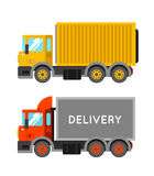 Delivery truck with container. Ton truck vector illustration. Tr. Uck shipping Stock Images
