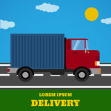 Delivery  truck. Delivery service van. Delivery car icon. Royalty Free Stock Photography