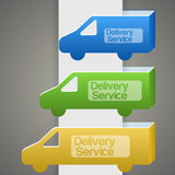Delivery truck with delivery sign Royalty Free Stock Photography