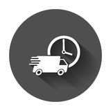 Delivery truck 24h vector illustration. Royalty Free Stock Photos