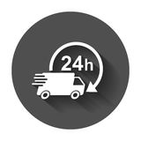 Delivery truck 24h vector illustration. Royalty Free Stock Image