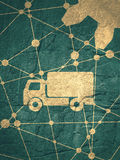 Delivery truck icon Royalty Free Stock Images