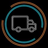 Delivery truck icon isolated royalty free illustration