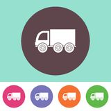 Delivery truck icon Royalty Free Stock Photos