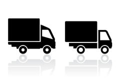 Delivery truck icon. Delivery trucks icons on white background Royalty Free Stock Image