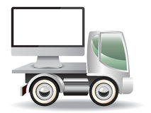 Delivery truck icons Royalty Free Stock Image
