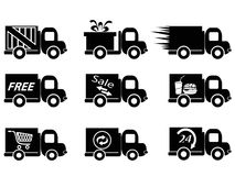 Delivery truck icons Stock Photo