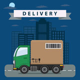 Delivery truck illustration. Stock Image