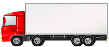 Delivery truck isolated Royalty Free Stock Photography
