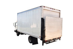 Delivery Truck Isolated. A large delivery truck isolated on a white background royalty free stock photo