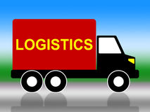Delivery Truck Means Coordinate Courier And Organized Stock Images