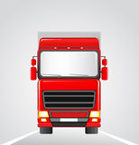 Delivery truck on the road Royalty Free Stock Image