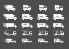 Delivery Truck set Stock Images