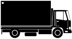 Delivery truck side view Royalty Free Stock Photo