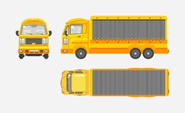Delivery truck top, front, side view Stock Photo
