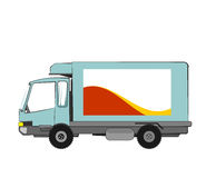 Delivery truck van. Illustration of blue delivery truck van isolated stock illustration