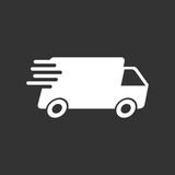 Delivery truck vector illustration. Fast delivery service shipping icon Stock Photography
