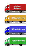 Delivery trucks royalty free illustration