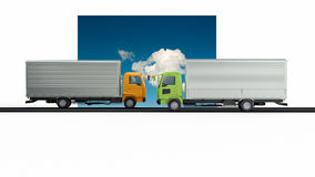 Delivery trucks Royalty Free Stock Images