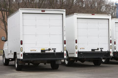 Delivery Trucks. Two New Box Delivery or Moving Trucks Stock Image