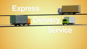Delivery trucks Stock Images