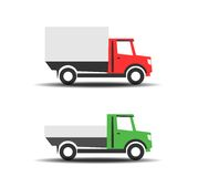 Delivery trucks icons Stock Photo