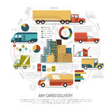 Delivery Trucks Illustration Royalty Free Stock Photo