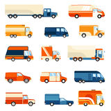 Delivery Trucks Set Stock Photo