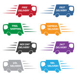 Delivery trucks Royalty Free Stock Photography