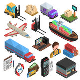 Delivery Types Isometric Icons Set Stock Photos