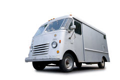 Delivery van. Image of an old delivery van isolated on white background Stock Photo