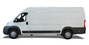 Delivery van. White delivery van isolated on white background