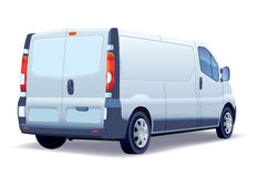 Delivery van. White commercial vehicle - delivery van on white background stock illustration
