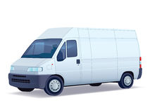Delivery van. Commercial vehicle - delivery van on white background stock illustration
