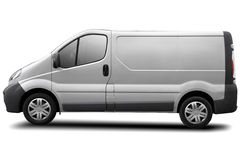 Delivery van. Commercial vehicle isolated on white, clipping path included Royalty Free Stock Images