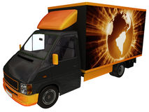 Delivery Van Royalty Free Stock Photos