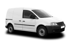 Delivery Van. White Delivery Van Isolated on White Stock Photo
