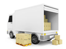 Delivery Van with a Boxes Royalty Free Stock Photo