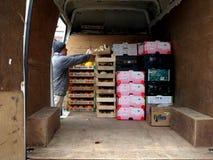 Delivery Van. Royalty Free Stock Photos