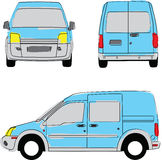 Delivery van colored by hand Royalty Free Stock Photography