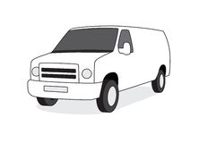 Delivery van front view  illustration Royalty Free Stock Images