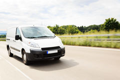 Delivery Van on Highway Royalty Free Stock Image