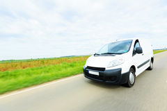 Delivery Van on Highway Stock Photography
