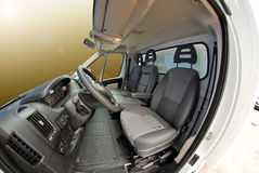 Delivery van interior Royalty Free Stock Images
