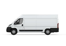 Delivery Van Isolated Royalty Free Stock Photography